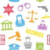 法律&命令无缝的样式 免版税库存照片