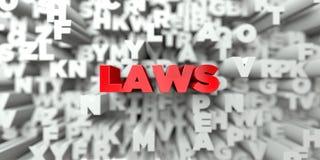 法律-在印刷术背景的红色文本- 3D回报了皇族自由储蓄图象 库存例证