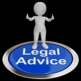 法律建议按钮显示律师专家教导 向量例证