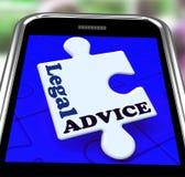 法律建议智能手机在网上意味律师协助 库存例证