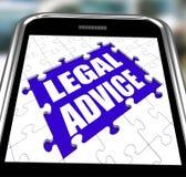 法律建议智能手机显示网上律师 向量例证