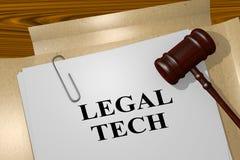 法律TECH概念 皇族释放例证