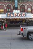 法戈剧院入口在街市法戈, ND 免版税库存照片