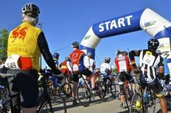 法戈马拉松Cyclothon自行车种族 库存照片