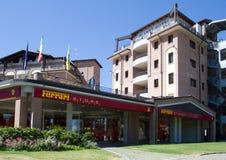 法拉利商店和行星旅馆 免版税库存照片