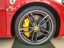 法拉利超级车轮 免版税库存照片