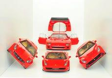 法拉利跑车:F40、FF, F12 Berlinetta和458意大利 免版税库存图片