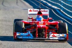 法拉利车队F1,福纳多阿隆索, 2012年 库存图片