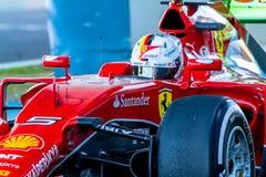 法拉利车队F1,赛巴斯蒂安・维泰尔, 2015年 免版税库存图片