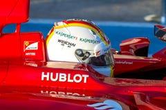 法拉利车队F1,赛巴斯蒂安・维泰尔, 2015年 库存照片