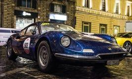 法拉利迪诺246 GT Mille Miglia 2016年 免版税库存照片