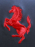 法拉利绣了` Cavalino腾跃的马` 图库摄影