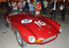 法拉利275 1950年,在1000英里赛跑 库存照片