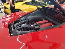 法拉利488引擎 库存图片