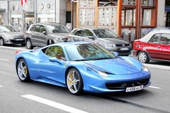 法拉利458意大利 免版税库存照片