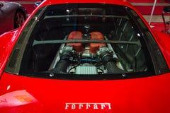 法拉利360挑战Stradale的机舱 免版税库存图片