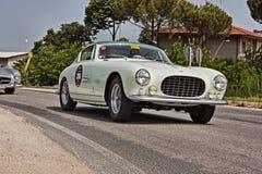 法拉利250欧罗巴GT 1955年在Mille Miglia 2011年 库存图片