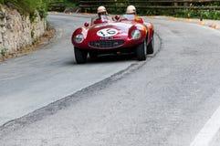 法拉利750蒙扎蜘蛛SCAGLIETTI 1954年 图库摄影