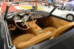 法拉利250 GT加利福尼亚SWB -内部 免版税库存照片