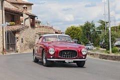 法拉利250 GT欧罗巴Pinin Farina (1955)在Mille Miglia 2014年 免版税库存图片