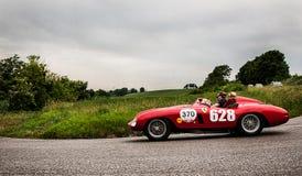 法拉利500 Mondial蜘蛛Scaglietti 1955年 图库摄影