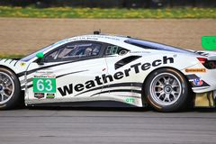 法拉利488 Scuderia Corsa Motorsports 免版税库存图片