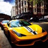 法拉利458 Speciale在伦敦 免版税库存图片
