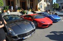 法拉利Lamborghini和保时捷 免版税图库摄影