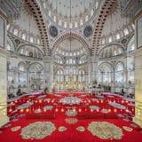 法提赫清真寺在伊斯坦布尔,土耳其区  免版税库存图片