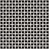织法无缝的样式 相交的条纹格子编织背景  黑白几何传染媒介 免版税库存照片
