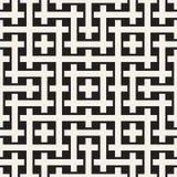 织法无缝的样式 相交的条纹格子编织背景  黑白几何传染媒介 免版税图库摄影