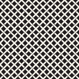 织法无缝的样式 相交的条纹格子编织背景  黑白几何传染媒介 库存照片