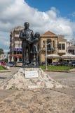 法泽尔Kucuk,尼科西亚,塞浦路斯博士雕象  免版税库存图片