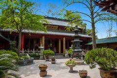 法海寺在扬州苗条西湖 图库摄影