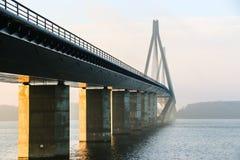 法罗桥梁 库存图片