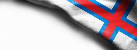 法罗群岛旗子白色背景的 库存照片