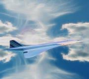 法航协和飞机 库存图片