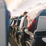 法航喷气机飞机内部视图 库存照片