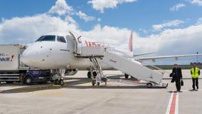 法航喷气机飞机在夏尔・戴高乐机场 免版税图库摄影