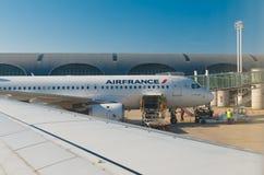 法航飞机在巴黎 库存图片