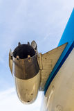 法航KLM福克战斗机100引擎尾气 库存照片