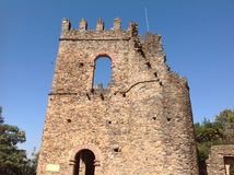 法西尔城堡贡德尔埃塞俄比亚 免版税库存图片