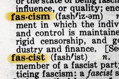法西斯主义辞典定义 免版税库存照片