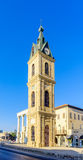 贾法角钟楼,现在一部分的TelAviv Yafo 库存图片