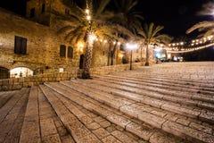 贾法角,特拉维夫,以色列老街道  免版税库存照片