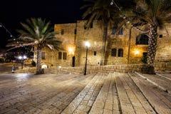 贾法角,特拉维夫,以色列老街道  库存照片