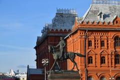 法警茹科夫纪念碑,莫斯科,俄罗斯 免版税图库摄影