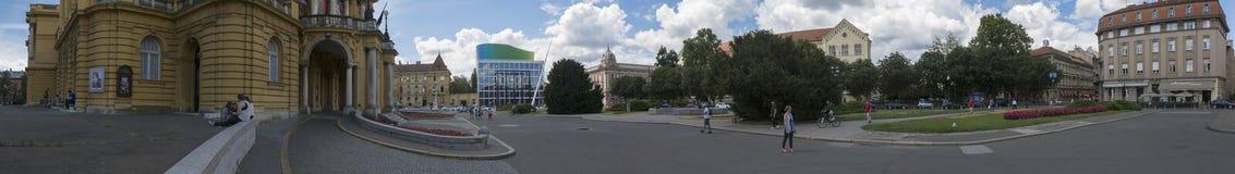 法警铁托广场在萨格勒布, Vroatia 免版税库存图片
