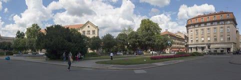 法警铁托广场在萨格勒布, Vroatia 库存图片