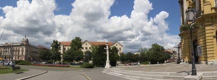 法警铁托广场在萨格勒布, Vroatia 库存照片